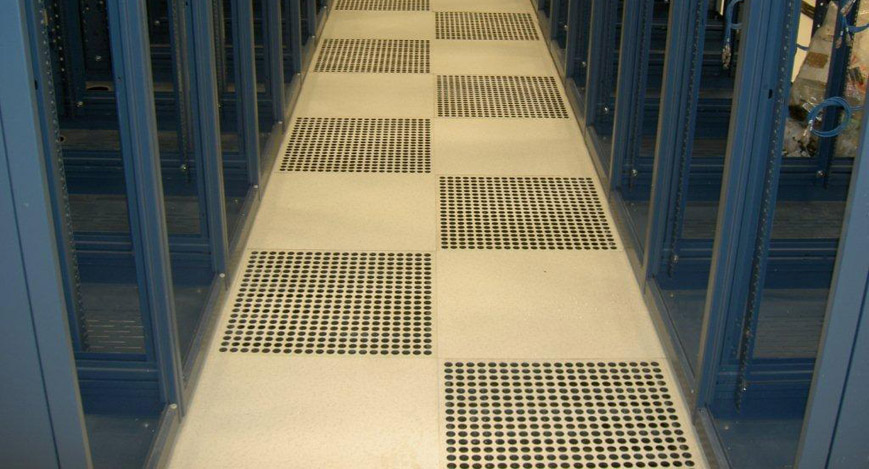 crimson raised access floor system data centre